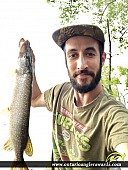 "30"" Northern Pike caught on St. Lawrence River"