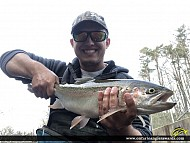 "22"" Rainbow Trout caught on Sixteen Mile Creek"
