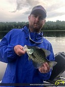"12"" Black Crappie caught on Turtle Lake"