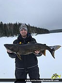 "34.5"" Lake Trout caught on Dryberry"