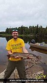 "33.25"" Northern Pike caught on Kapuskasing River"
