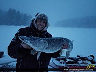 """40"""" Northern Pike caught on Lady Evelyn lake"""