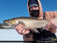 """21.25"""" Brook/Speckled Trout caught on Rocky Lake"""