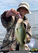 "14"" Black Crappie caught on Lake of the Woods"