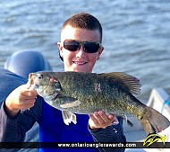 "18"" Smallmouth Bass caught on Lake of the Woods"
