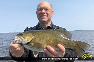 "17.5"" Smallmouth Bass caught on Lake of the Woods"