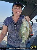 "15"" Black Crappie caught on Lake of the Woods"