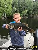 "19"" Smallmouth Bass caught on Black Sturgeon"