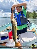 "29"" Walleye caught on Blue Lake"