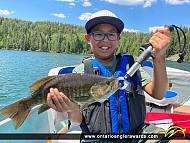 "17"" Smallmouth Bass caught on Blue Lake"