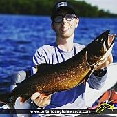 """26"""" Lake Trout caught on Charleston Lake"""
