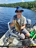 "17.5"" Smallmouth Bass caught on Long Lake"