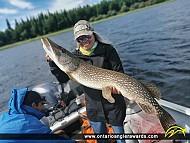 "42.5"" Northern Pike caught on Lake St. Joseph"