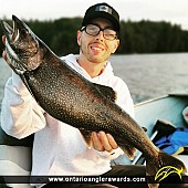 """30"""" Lake Trout caught on Charleston Lake"""
