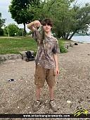 "11"" Rock Bass caught on Hamilton Harbour"
