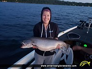 """35.25"""" Lake Trout caught on Clearwater Bay"""