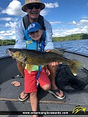 """25"""" Walleye caught on Lake of the Woods"""