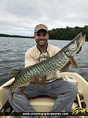 "39"" Muskie caught on Bass Lake"