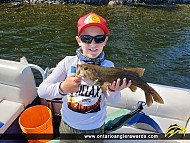 """18.25"""" Smallmouth Bass caught on Sandstone Lake"""
