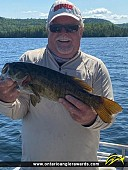 """21"""" Smallmouth Bass caught on Sandstone Lake"""