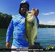 """21"""" Largemouth Bass caught on Lake Simcoe"""