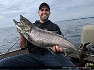 """36.875"""" Chinook Salmon caught on Lake Ontario"""