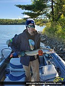 """31"""" Northern Pike caught on Steven\'s Bay"""