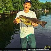 "23"" Smallmouth Bass caught on Manitouwabing Lake"