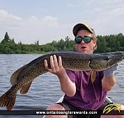 "38"" Northern Pike caught on Mud Lake"