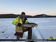"38"" Lake Trout caught on Lake Santoy"