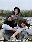"22.5"" Smallmouth Bass caught on Bear Lake"