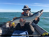 "38"" Muskie caught on Lake St. Clair"