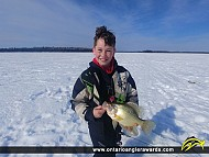 "14.25"" Black Crappie caught on Dinorwic Lake"