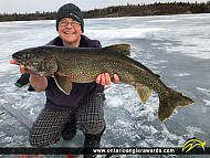 """29.75"""" Lake Trout caught on Lake of the Woods (Ptarmigan Bay)"""