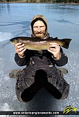 """23"""" Brown Trout caught on Summit lake"""