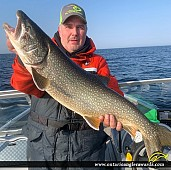 """33"""" Lake Trout caught on Lake Ontario"""