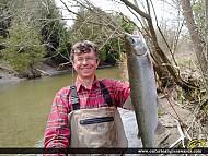 "27.5"" Rainbow Trout caught on Ganaraska River"
