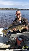 """27"""" Walleye caught on Graham lake"""