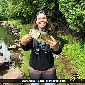 "23"" Largemouth Bass caught on Big Hawk Lake"