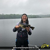 """18"""" Largemouth Bass caught on Little Brother Lake"""