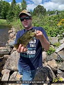 """10.5"""" Rock Bass caught on South River"""
