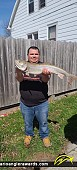 """31"""" Lake Trout caught on St. Clair River"""