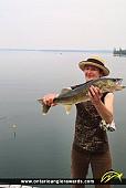 """25"""" Walleye caught on Perrault Lake"""