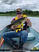 """18.5"""" Largemouth Bass caught on Commanda Lake"""