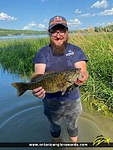 "19.5"" Smallmouth Bass caught on Muskrat Lake"