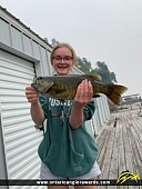 """17"""" Smallmouth Bass caught on Deception Bay"""