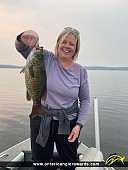 """18"""" Smallmouth Bass caught on Dogtooth Lake"""