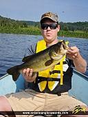 """19"""" Largemouth Bass caught on Commanda Lake"""