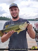 """19.5"""" Largemouth Bass caught on French River"""