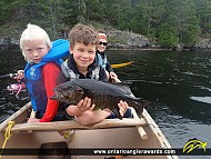 """20"""" Smallmouth Bass caught on Quetico Lake"""